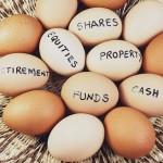Basket Egg Investment Portfolio Concept