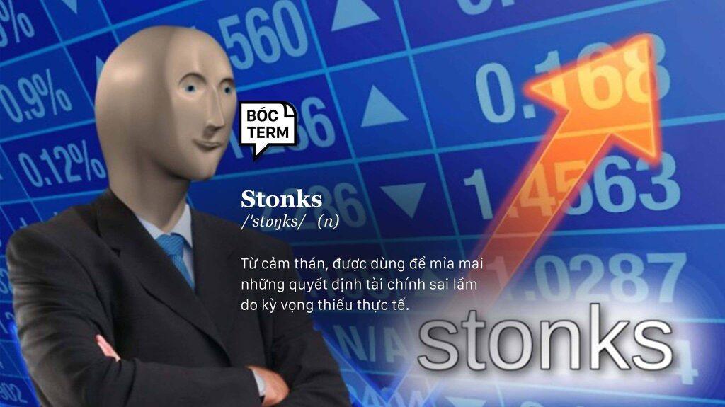 stonks - mỉa mai